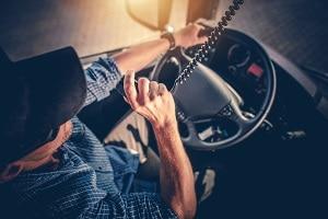 Trucker Using a CB Radio